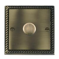 Resistive/Inductive Trailing Edge Push On/Off Rotary Multi-Way Dimmers